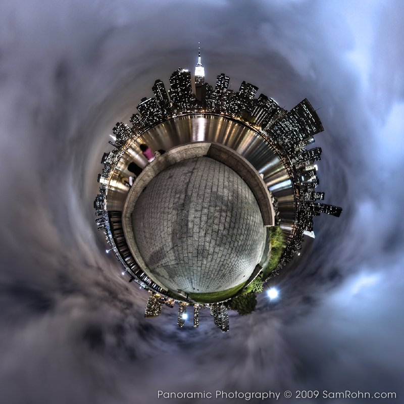 Panoramic 360 tiny planets